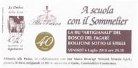 """A Scuola con il Sommelier - La Ru """"Artigianali"""" del Bosco del Fagarè"""