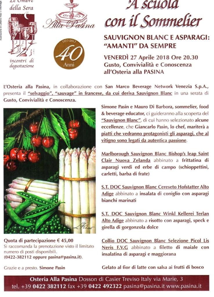 """A Scuola con il Sommelier - Sauvignon Blanc e Asparagi: """"amanti"""" da sempre"""